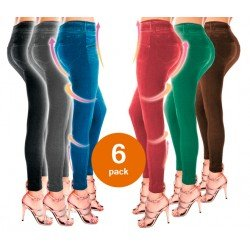 SUMMER SHAPER SLIM JEGGINGS BONPLUS, PACK DE 6 SLIM JEGGINGS