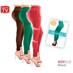 SUMMER SHAPER SLIM JEGGINGS BONPLUS, MOLDEA TU FIGURA CON EFECTO PUSH UP